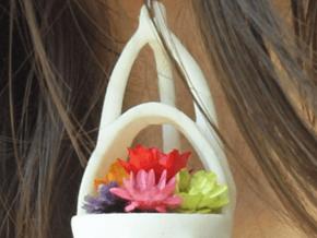 Little earring planter in White Natural Versatile Plastic
