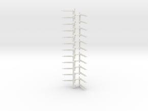 Stootjuk NS schaal N 12 stuks in White Natural Versatile Plastic