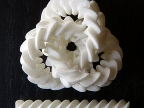 Triple gear (small, with axle) in White Natural Versatile Plastic