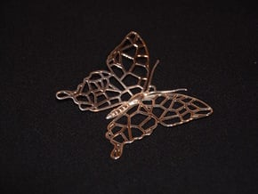 Butterfly Voroni Pendant in Polished Silver
