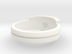 Power Ring Sz 12 in White Processed Versatile Plastic