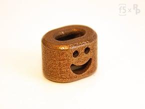 Happy Bob the FlatBead in Polished Bronze Steel
