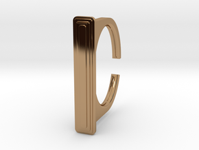 Ring 1-1 in Polished Brass