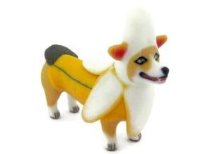 Banana Corgi  in Full Color Sandstone