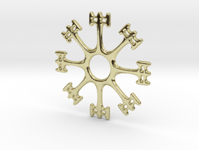 Draumstafur 2cm diameter in 18k Gold Plated Brass