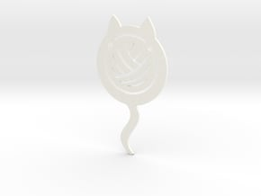 Bookmark in White Processed Versatile Plastic