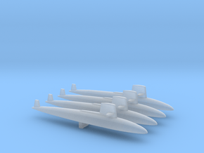 Skipjack class SSN x 4, 1/1800 in Smooth Fine Detail Plastic