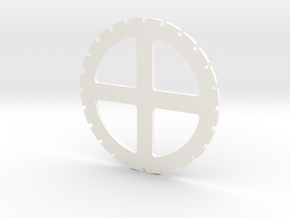 5 Inch Spiking Pattern in White Processed Versatile Plastic