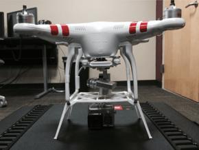 DJI LandingGear w/ GoPro Mount  in White Natural Versatile Plastic