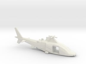 10mm (1/144) Agusta-Westland A109LUH (doors Open) in White Natural Versatile Plastic