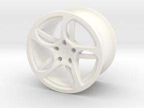 Wheel Lamborghini in White Processed Versatile Plastic