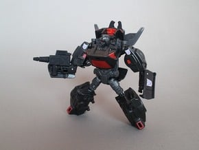 TAV Runabout CW Rodimus Wing hold and Weapon Parts in Black Natural Versatile Plastic