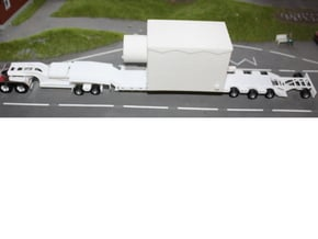 000036 ( 2 axle Dolly ) Low Loader USA HO 1:87 in White Natural Versatile Plastic