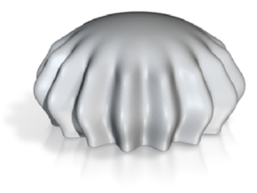 DRAW paperweight - jellyfish solid in White Natural Versatile Plastic