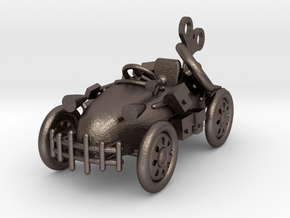 Car Adventure in Polished Bronzed Silver Steel
