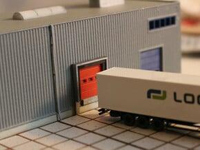 N Scale 3x Loading Dock +Door in Smooth Fine Detail Plastic