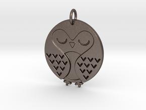 Sleeping Bird in Polished Bronzed Silver Steel