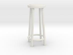 """1:48 34"""" Simple Stool in White Natural Versatile Plastic"""