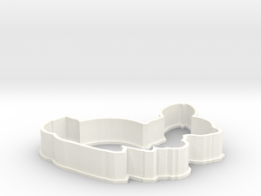 Bunny cookie cutter in White Processed Versatile Plastic
