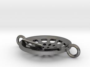 """Low Tenor """"Essence"""" steelpan bracelet in Polished Nickel Steel: Small"""
