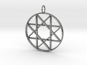 Star of Isis in Fine Detail Polished Silver