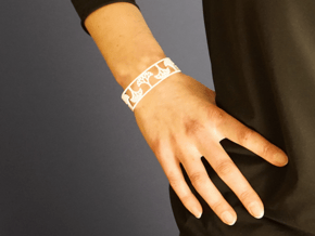 Natural Tree Bracelet 7in (18cm)  in White Natural Versatile Plastic