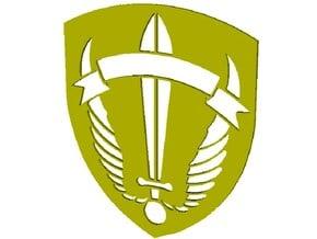 Hellenic Army LOK SpecOps ''O Tolmon Nika'' badge in Smooth Fine Detail Plastic