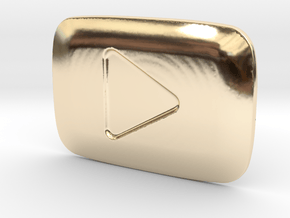 **ON SALE** YouTube Play Button Award in 14k Gold Plated Brass