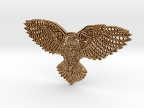 Owl Pendant in Polished Brass