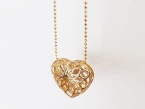 Valentine Heart - Big in Polished Brass