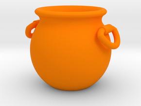 Cauldron Miniature in Orange Processed Versatile Plastic
