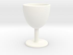 Wine Glass Shot Glass in White Processed Versatile Plastic