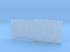 DR0001 GPSD Dash 2 Generic Doors 1/87.1 Scale in Smoothest Fine Detail Plastic