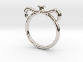 Petal Ring Size 4 in Platinum
