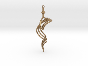 The Vision - Earring/Pendant in Natural Brass