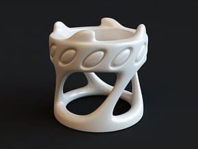 Tealight Holder in White Processed Versatile Plastic
