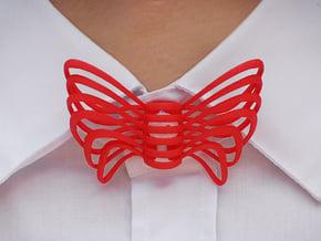 Bow Tie in Red Processed Versatile Plastic