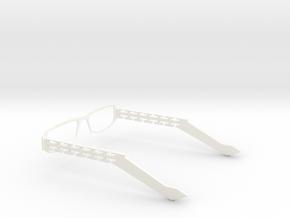 Glasses - Type2 in White Processed Versatile Plastic