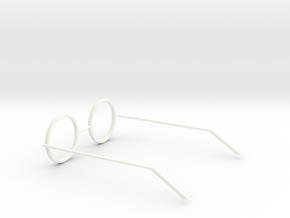 Glasses - Type5 in White Processed Versatile Plastic