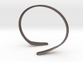 Hockey Cuff in Polished Bronzed Silver Steel