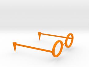 modeling glasses in Orange Processed Versatile Plastic