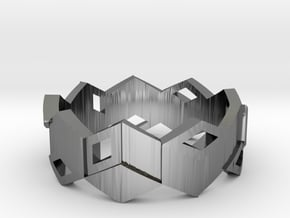 CUBE  in Fine Detail Polished Silver