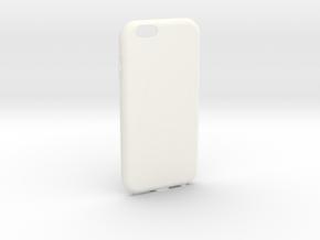 Customizable iPhone 6 case in White Processed Versatile Plastic