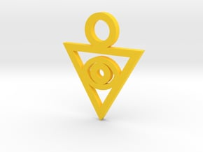 Aigami's Pendant- Yu-Gi-Oh! Darkside of Dimensions in Yellow Processed Versatile Plastic