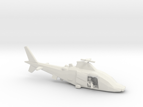 10mm (1/144) Agusta-Westland A109LUH (Sniper, M240 in White Natural Versatile Plastic