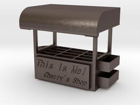 Jewels Box in Polished Bronzed Silver Steel
