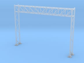 HO Scale Sign Gantry 105mm in Smooth Fine Detail Plastic