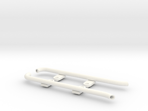 Bomber Exhaust in White Processed Versatile Plastic