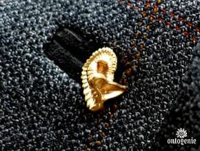Dailyatia Lapel Pin - Science Jewelry in Natural Bronze