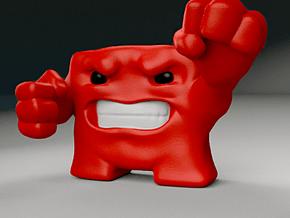 Super Meat Boy in Full Color Sandstone